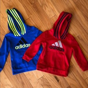 Two Adidas Hoodies
